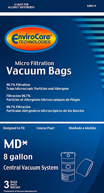 Amazon.com - EnviroCare Replacement Vacuum Bags for Modern Day 8 Gallon Central Vacuums 9 Pack -