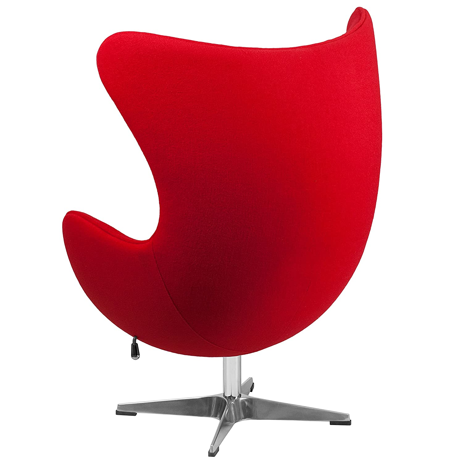 Amazon.com: Flash Furniture Red Wool Fabric Egg Chair With Tilt Lock  Mechanism: Kitchen U0026 Dining