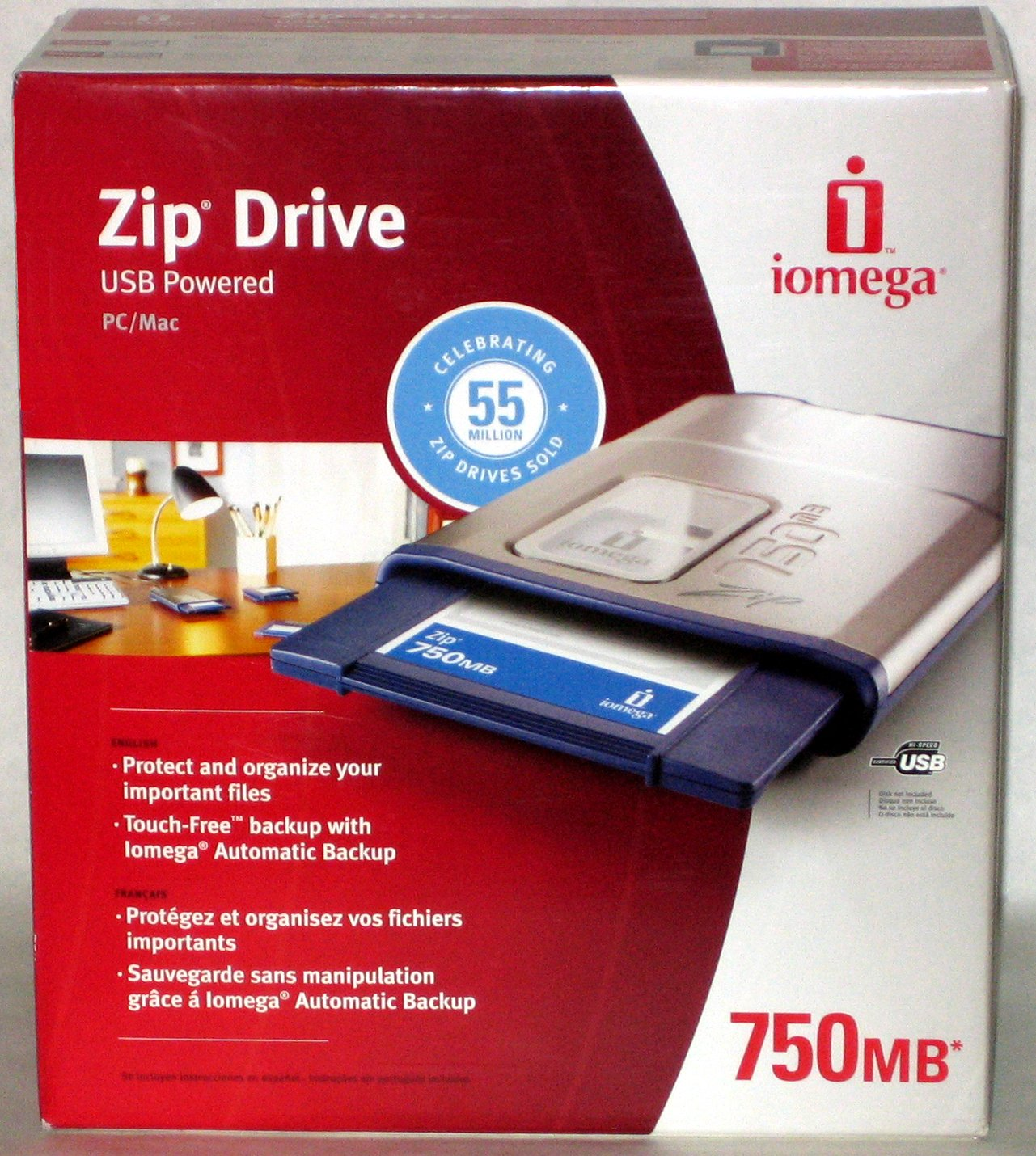 Iomega ZIP 750 - ZIP drive - external - ZIP - 750 MB - Hi-Speed USB by Iomega