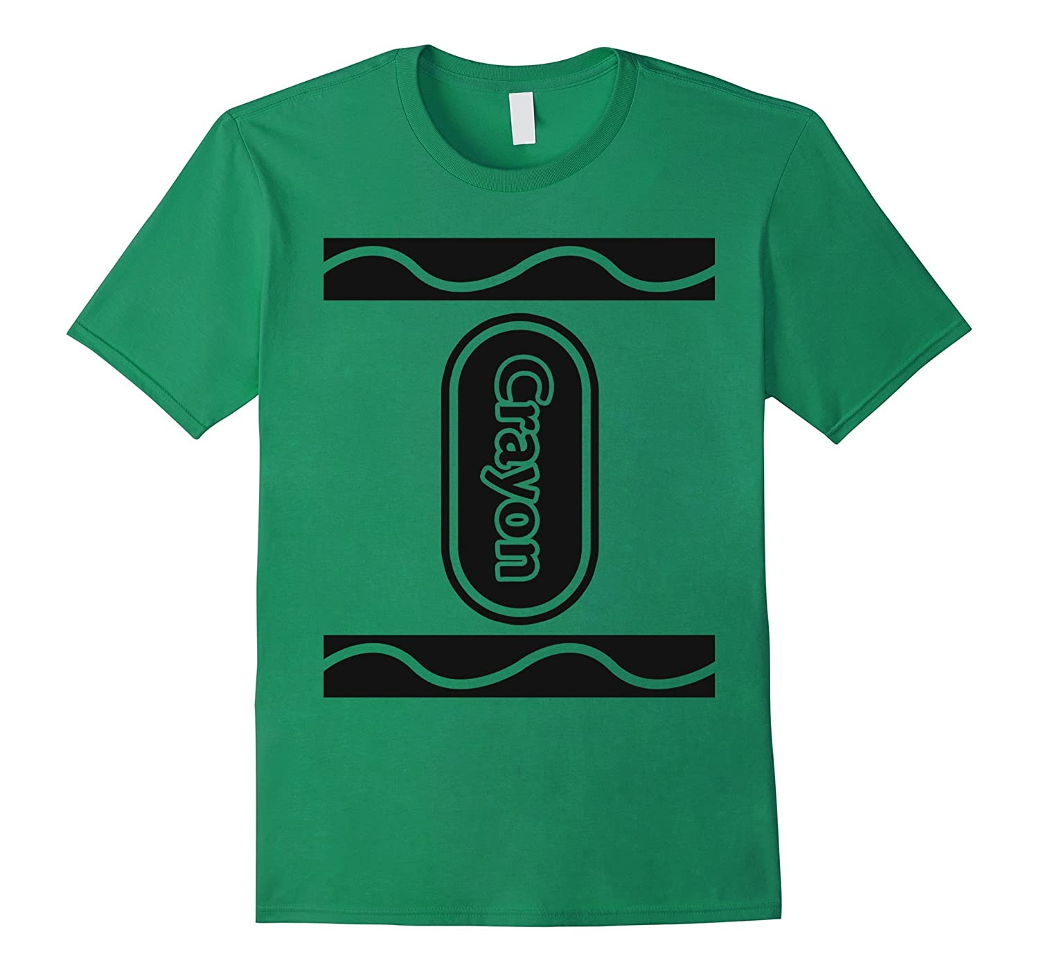 Green Crayon Box Group Costume Halloween T-Shirt-T-Shirt