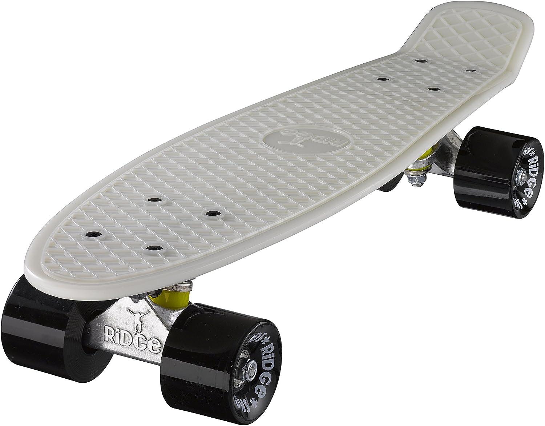 Ridge Skateboard 55 Cm Mini Cruiser Retro Stil in M Rollen Komplett U Fertig Montiert