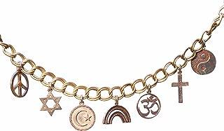 product image for All God's Children Adjustable-Length Charm Bracelet Peace Bronze