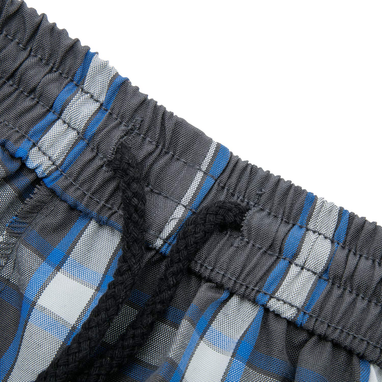 DRSLPAR Mens Casual Plaid Shorts Big and Tall Lounge Shorts Elastic Waist with Cargo Pockets