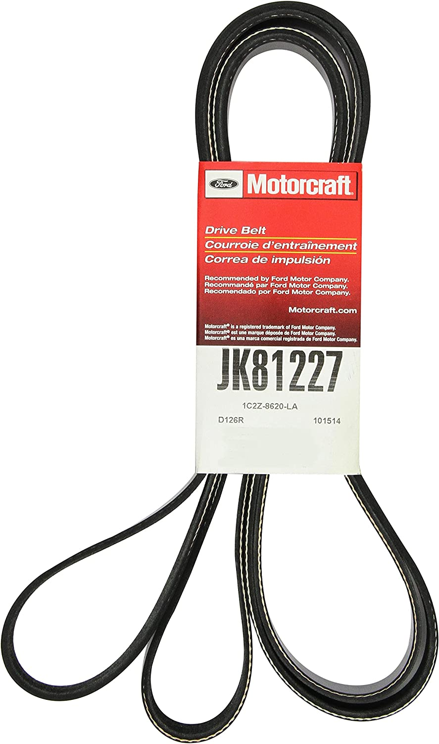 Motorcraft JK81227 V-Ribbed Belt: Automotive
