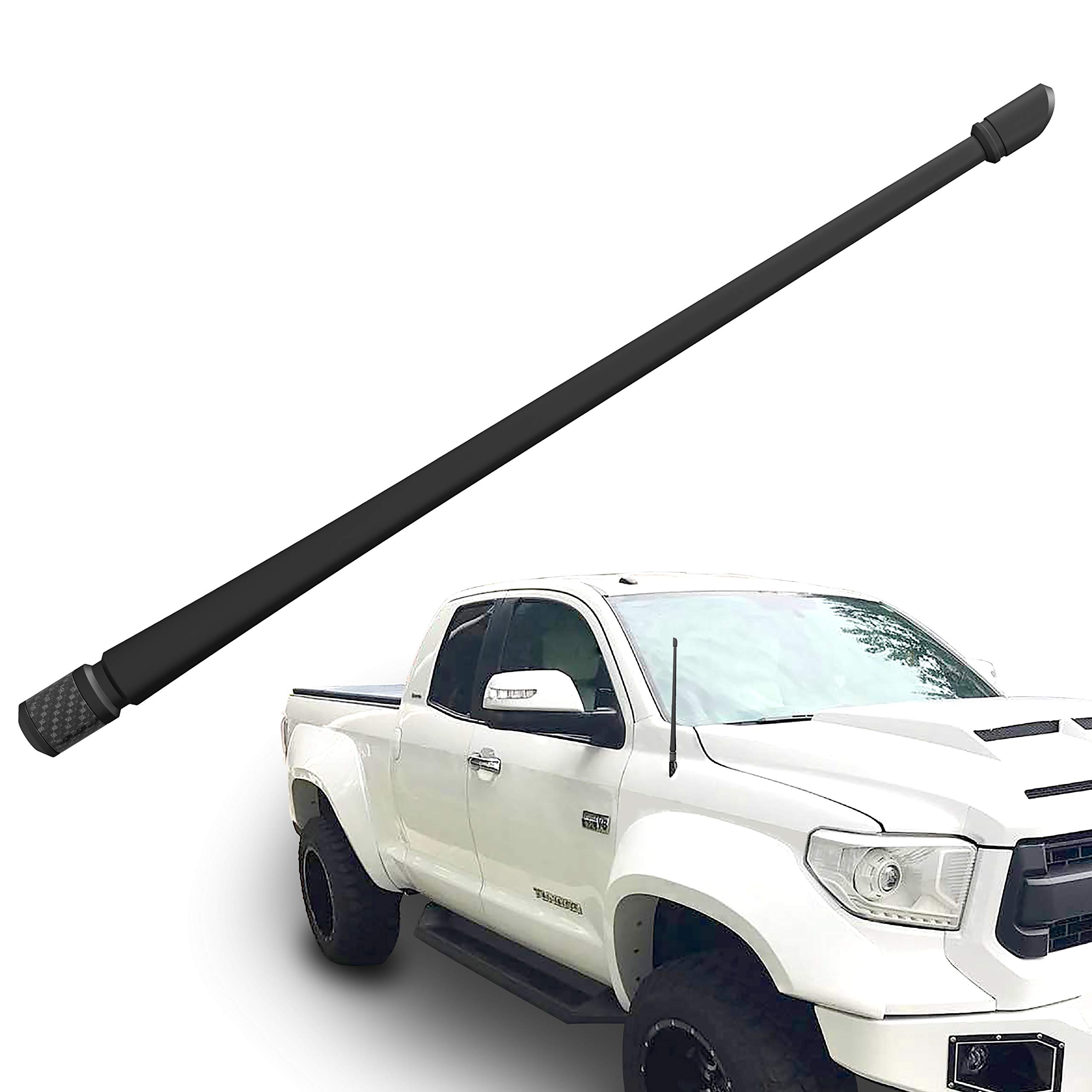Rydonair Antenna Compatible with 2000-2018 Toyota Tundra | 13 inches Flexible Rubber Antenna Replacement | Designed for Optimized FM/AM Reception
