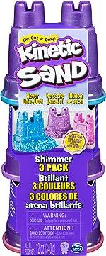 Kinetic Sand Shimmering Sand 3 Pack with Sandcastle Molds