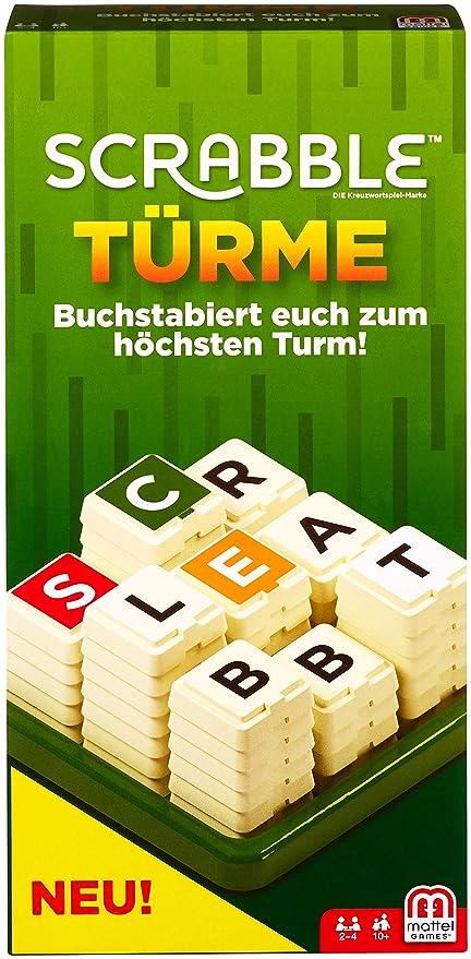Mattel Games Gcw07 Scrabble Türme Wörterspiel Familienspiel