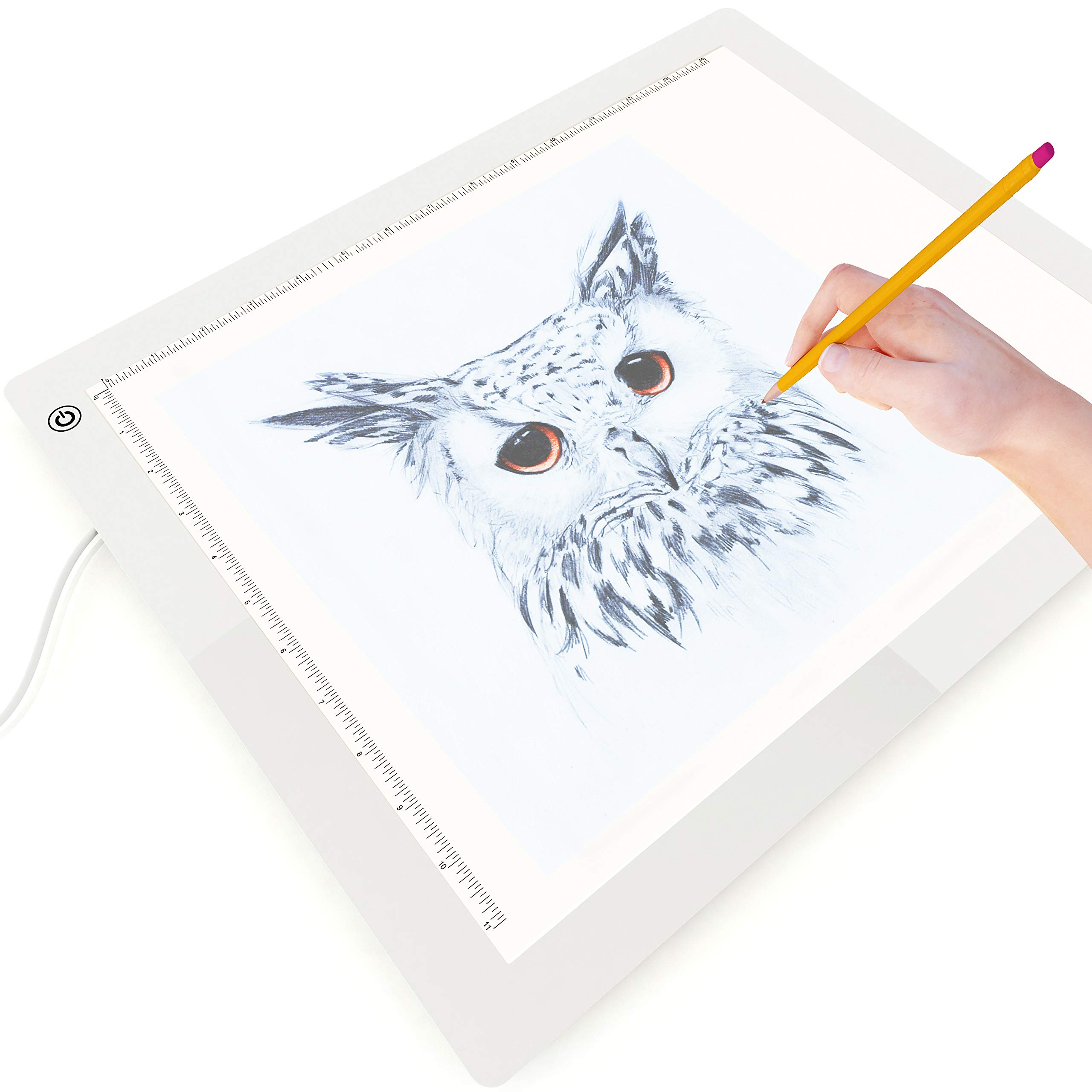 Picture/Perfect Best Light Box for Diamond Painting & Tracing - Large Grid-Free A3 Light Pad - Advanced Filter to Prevent Eye Fatigue, 17x14 inch, Hi, Mid & Low Brightness, Tracing Paper Included by PicturePerfect