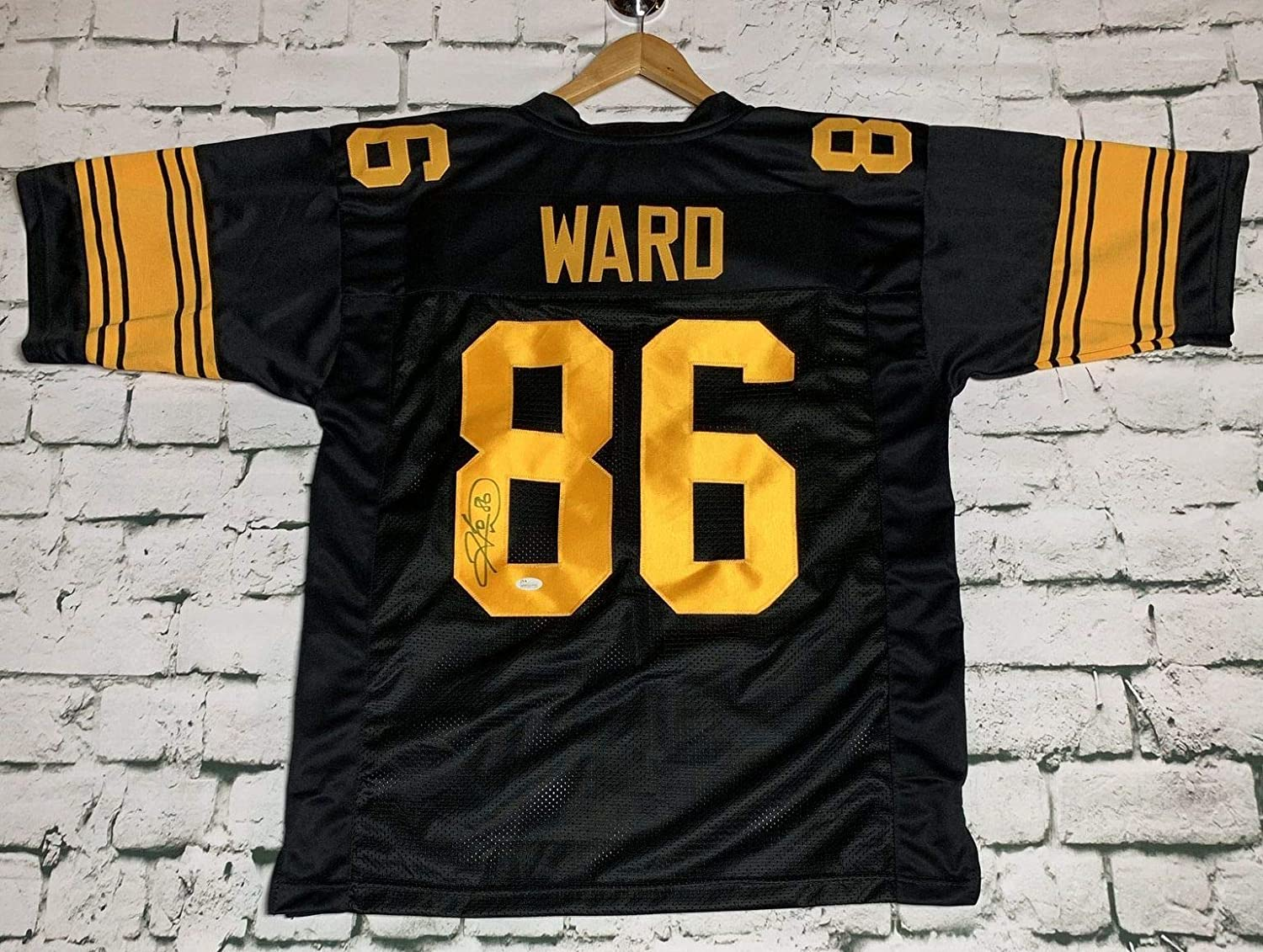0586846ca Hines Ward Signed Autographed Pittsburgh Steelers Football Jersey - JSA COA  at Amazon s Sports Collectibles Store