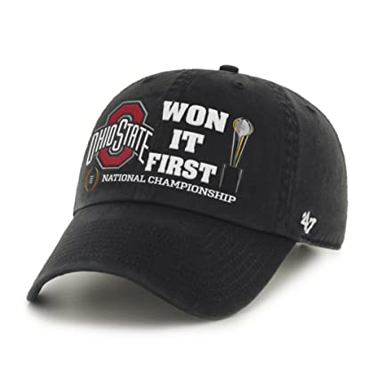 promo code 8e97c 11a98 ... cap nwt 783a2 325fe  norway ncaa ohio state buckeyes 2014 cfp football  national champions 47 brand adjustable hat black 740a6