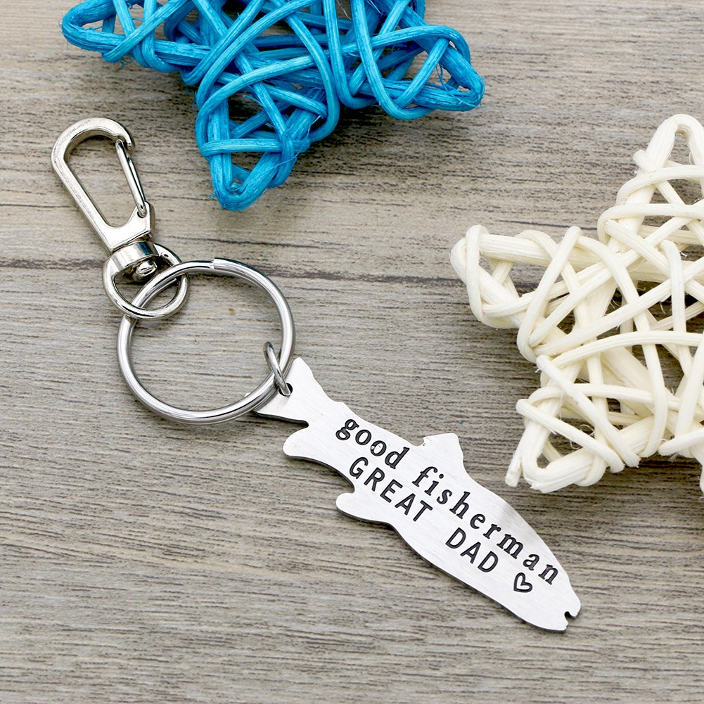 Melix Home Good Fisherman GREAT DAD Key Chain Gift for Dad from daughter son, Fathers Day Gift, Birthday Gift Key Ring Key Buckle … by Melix Home (Image #2)