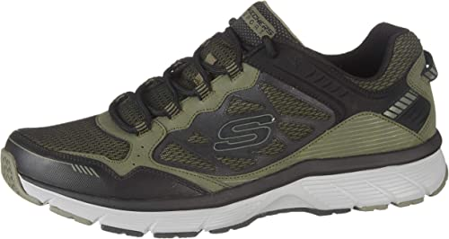 natural películas diario  Skechers Men's Bowerz Olive/Black 10 D US: Amazon.co.uk: Shoes & Bags