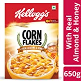 Kellogg's Corn Flakes, Real Almond and Honey, 650g Carton