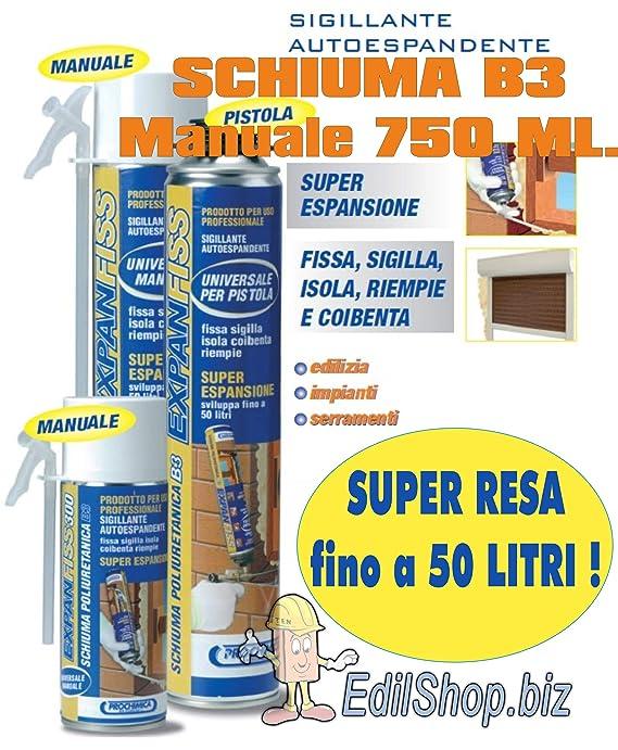 Espuma poliuretano impermeable expanfiss ml. 750 schiuma-pur-manuale: Amazon.es: Bricolaje y herramientas
