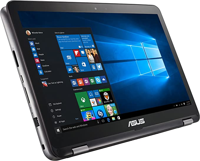 "Asus VivoBook Flip Convertible 15.6"" Touchscreen Laptop, Intel Core i3-6100U 2.3GHz, 4GB DDR4, 128GB SSD, Bluetooth, Windows 10 Home"