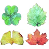 Leaf Shaped Self-Stick Notes, Scratch Pads, 4 Pads/Pack, 30 Sheets/Pad (Leaf)