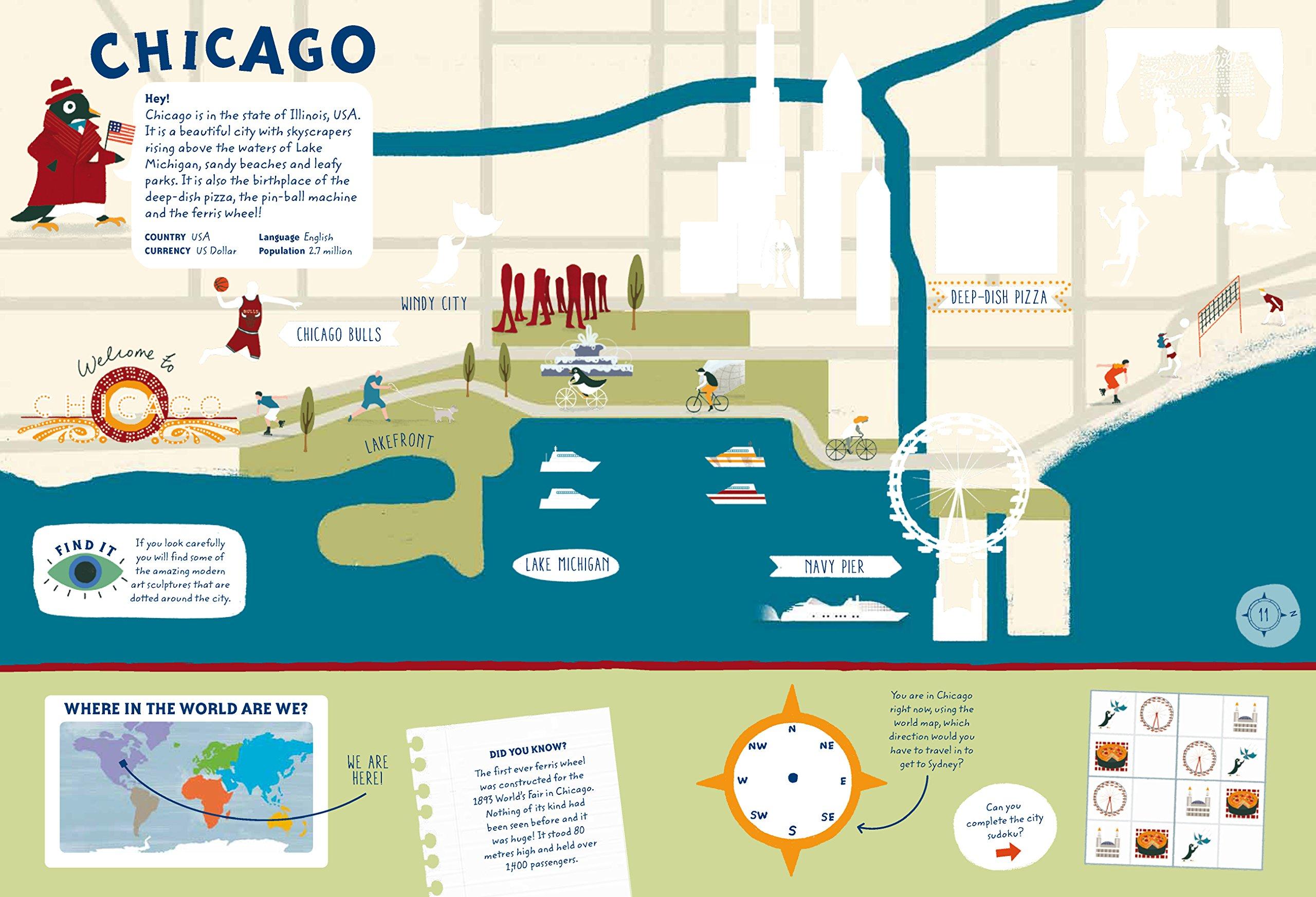 Big City Sticker Book: Over 350 Stickers!: Maggie Li: 9781843653011 ...