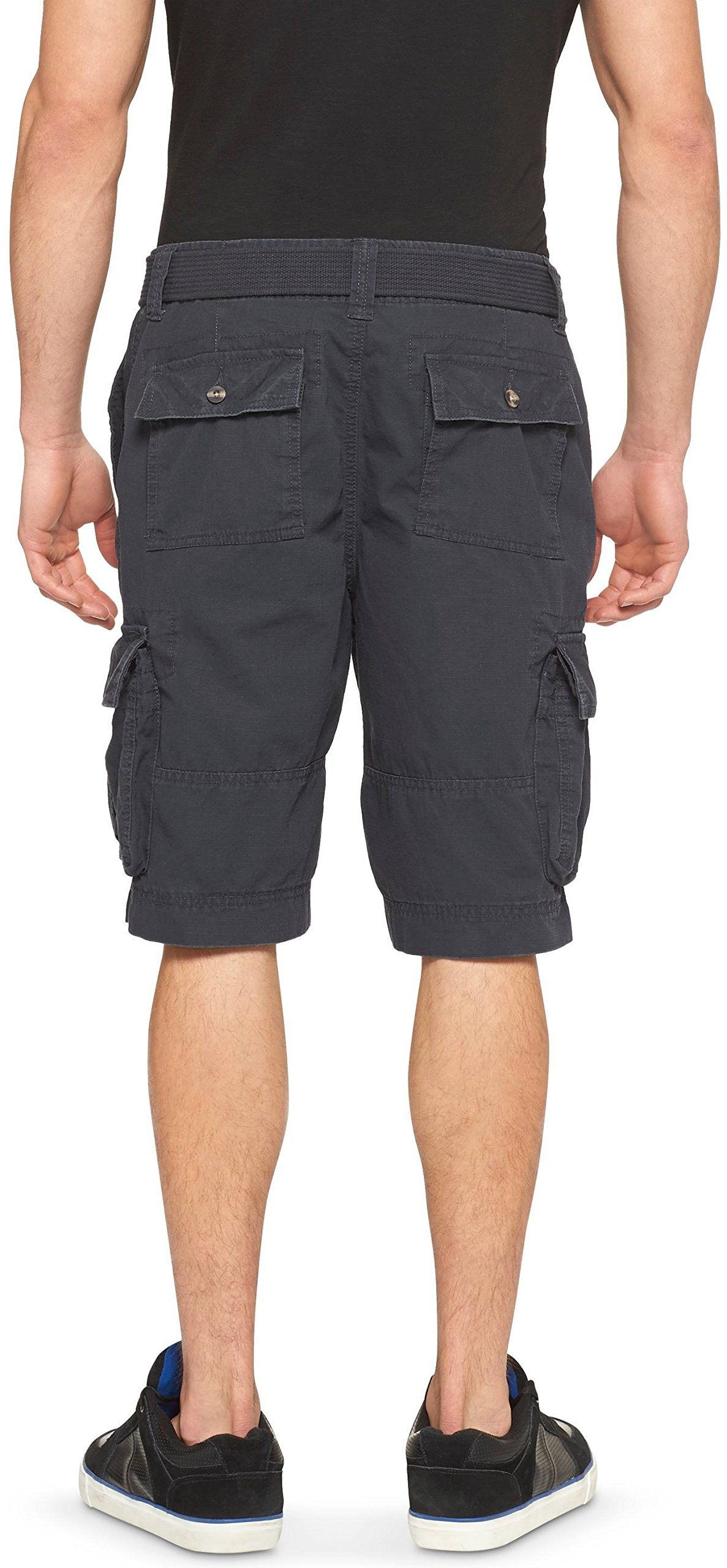Mossimo Men's Belted Cargo Shorts (Black, 28) by Masked Brand (Image #2)