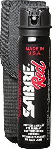 SABRE RED Pepper Spray - Police Strength - with Flip Top and Belt Holster (4.36 oz)