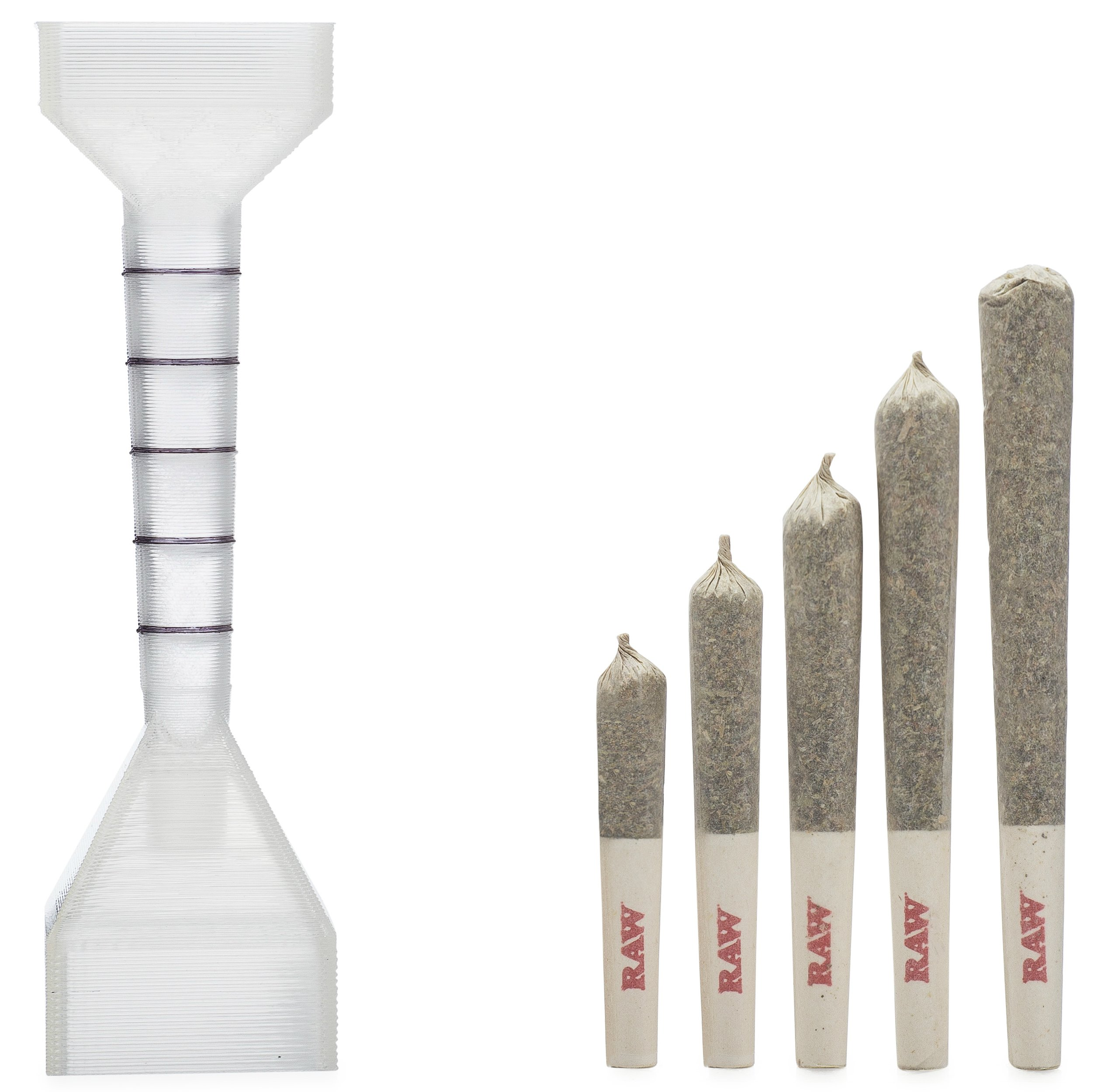 Cigarette Rolling Machine Loader Roller Filler. Made For RAW Cones Rolling Papers. Make Perfect Cigarettes. Includes: 20 Organic Hemp 1 1/4 RAW Cones (Pre Rolled) and Wooden Packing Stick. packNpuff
