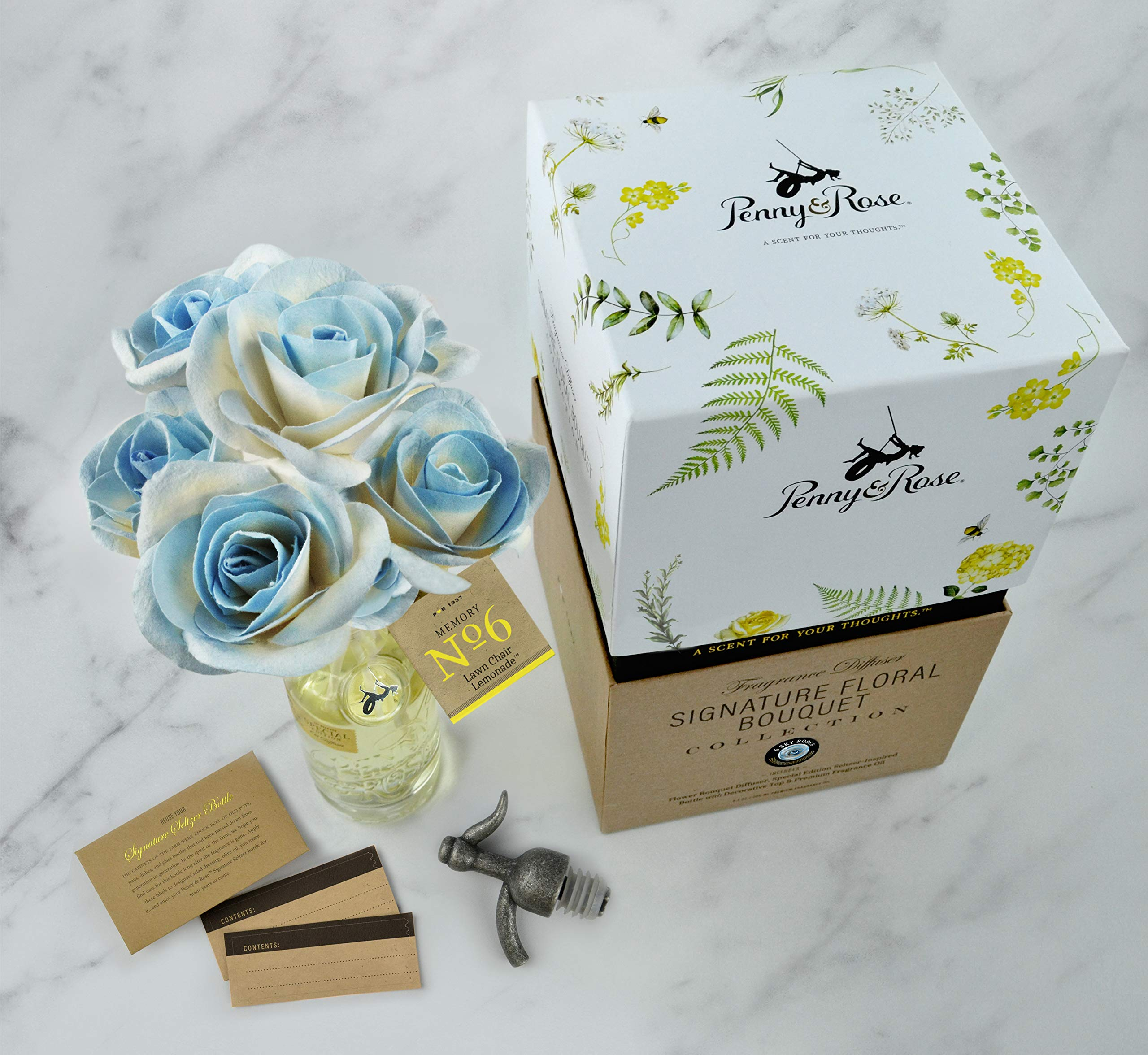 Penny & Rose Sky Rose Diffuser | Lawn Chair Lemonade Oil Scent by PENNY AND ROSE (Image #3)