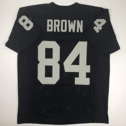 huge selection of 748b3 cf6a1 Amazon.com: Unsigned Antonio Brown Oakland Black Custom ...