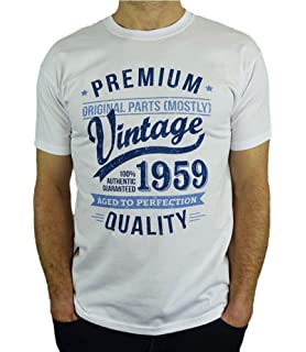 7bdee97d8 1959 Vintage Year - Aged to Perfection - 60th Birthday Gift / Present Mens T -