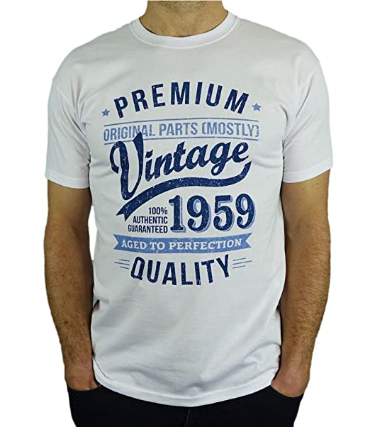 My Generation Gifts 1959 Vintage Year - Aged to Perfection - 60 Cumpleaños Años - Regalo de Cumpleaños Camiseta para Hombre