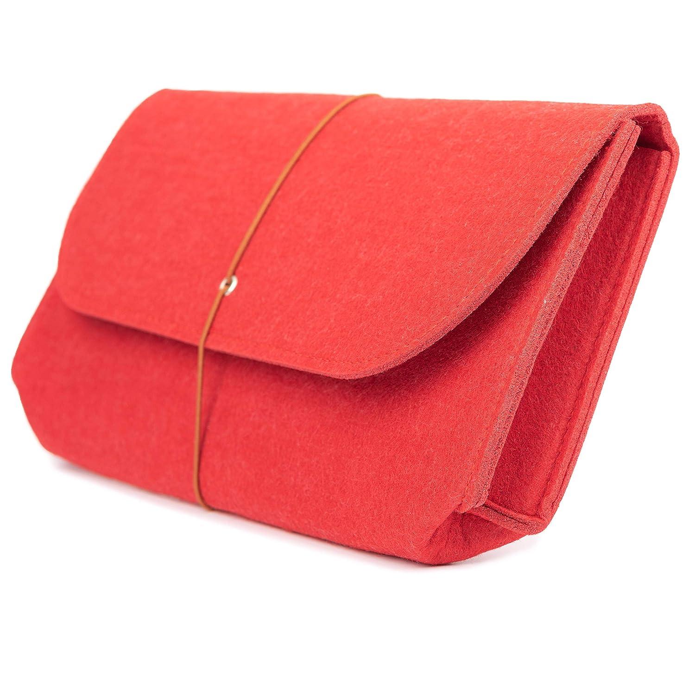 Clutch 27 * 15cm, mittelgroßes graues Filztäschchen, vielseitig verwendbar Handtasche Damentasche Abendtasche Unterarmtasche