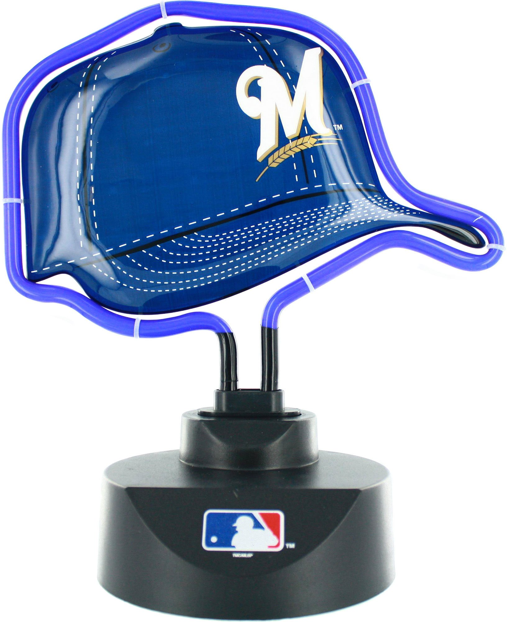 The Memory Company MLB Milwaukee Brewers Official Neon Helmet Lamp, Multicolor, One Size