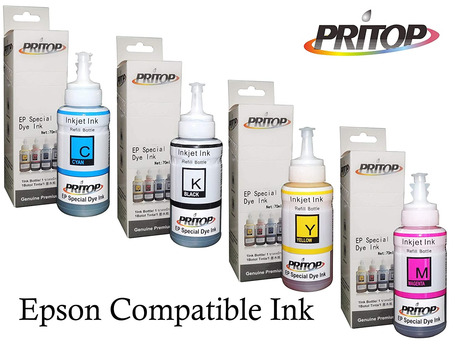 Axis Printing Ink Bottle Set Of 4 70ml For Epson L100 Tinta L200 L210 L220 L300 L310 L360 Electronics