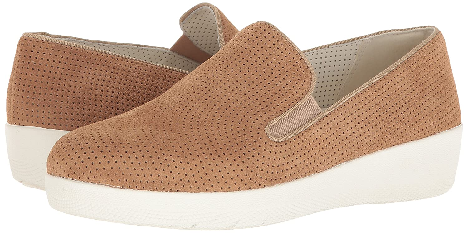 FitFloptrade; Superskate Perforato Soft Donna Casual Slittamento Sulle Scarpe Soft Perforato Brown Suede d65bb0