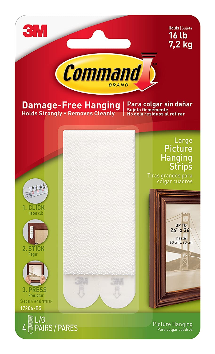command large picture hanging strips 4 pairs amazon co uk diy