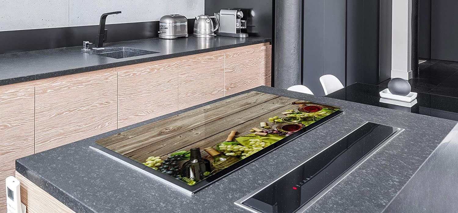 """Glass Pastry Board 15,75/"""" x 20,47/"""" ; Wine Series DD04 31,5/"""" x 20,47/"""" ; DOUBLE: 40 x 52 cm BIG Induction Cooktop Cover SINGLE: 80 x 52 cm"""