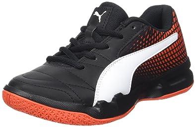 76bfbbe89 Puma Unisex Veloz Indoor Ng Jr Puma Black-Puma White-Cherry Tomato Sports  Shoes
