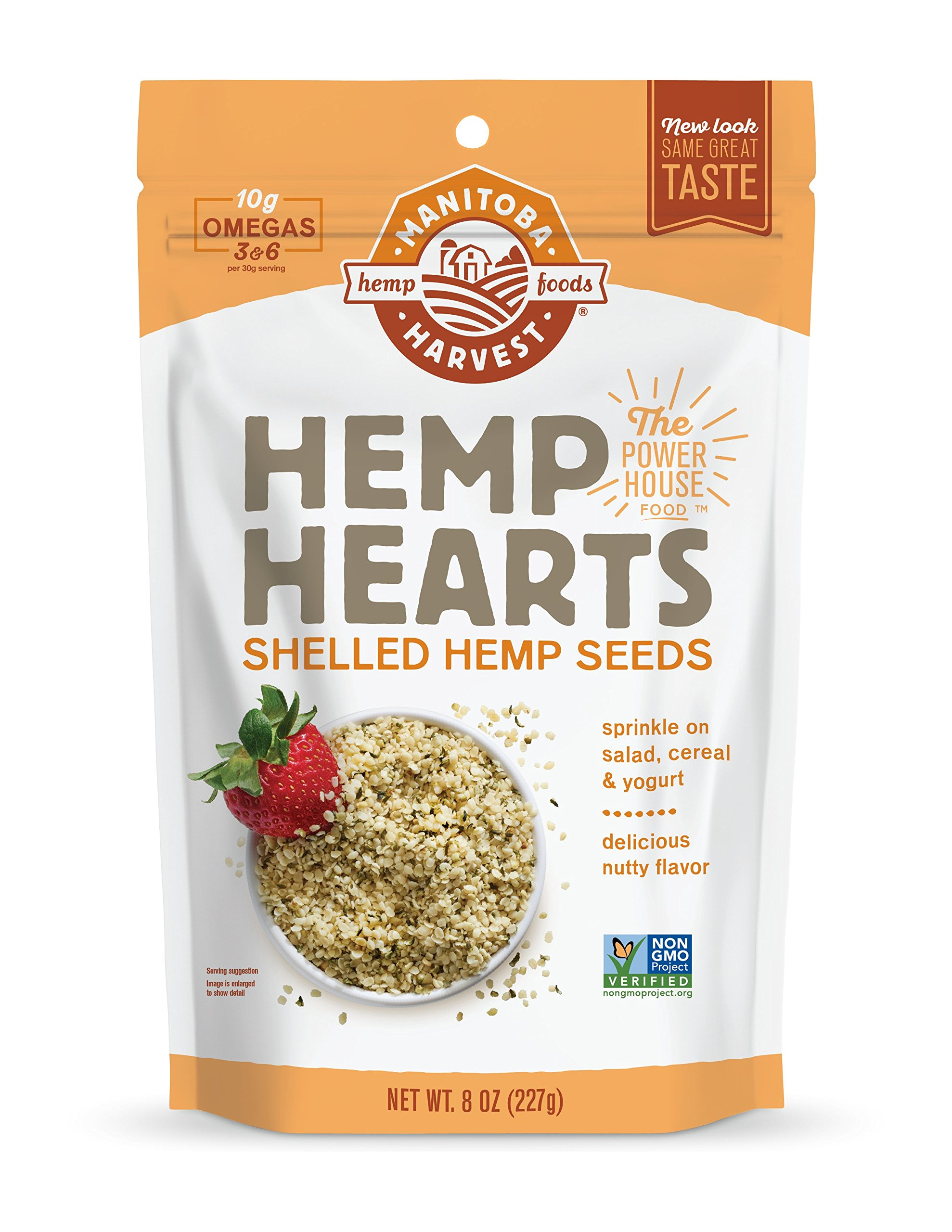 Manitoba Harvest Hemp Hearts Raw Shelled Hemp Seeds, 8oz (Pack of 2); with 10g protein& Omegas per Serving, Non-GMO, Gluten Free