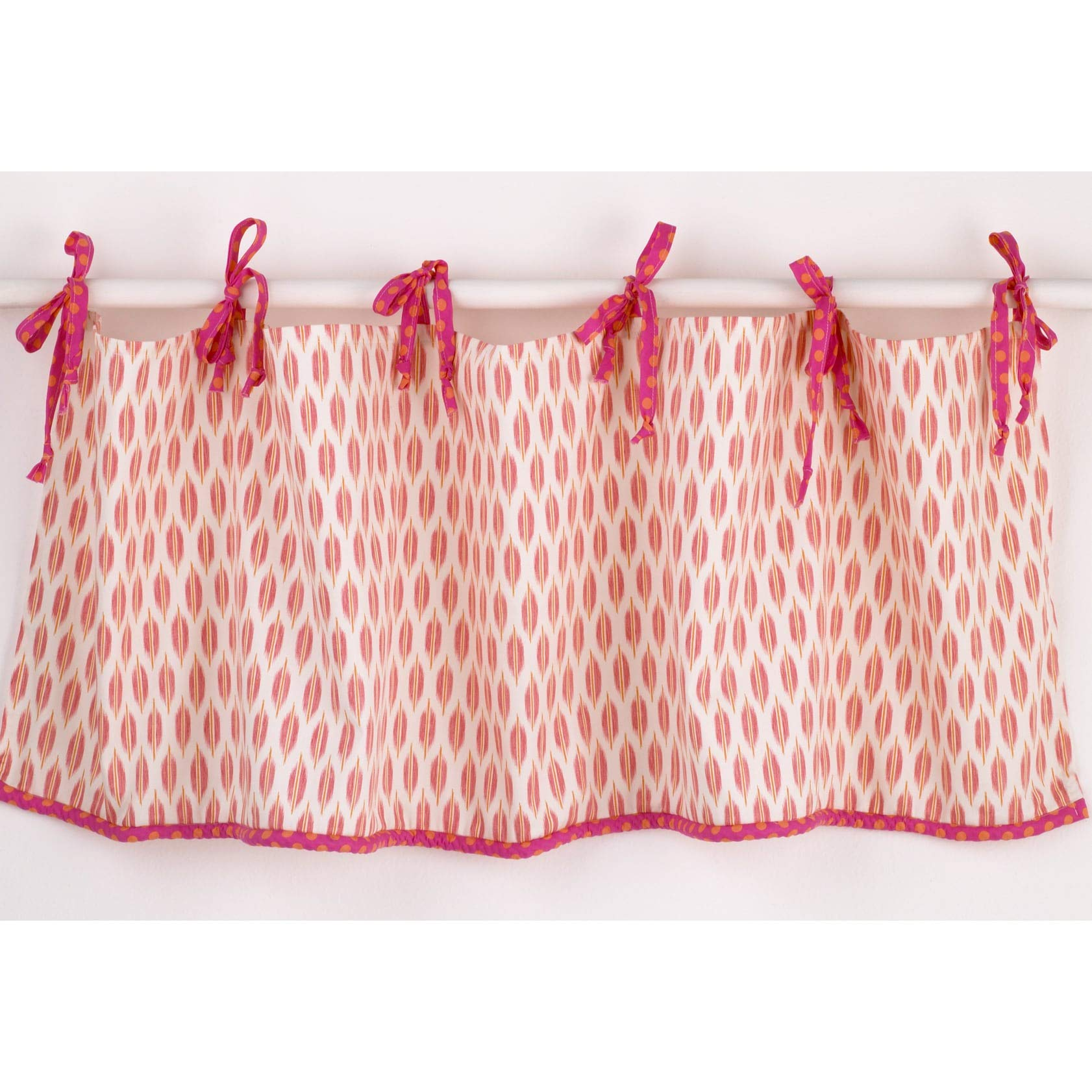 Sundance Curtain Valance Pink White Cotton by Unknown