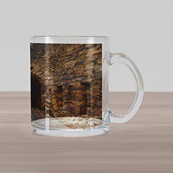 Amazon.com: Lunarable Vintage Glass Mug, Medieval Historic ...