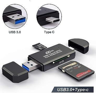 Amazon.com: Lector de tarjetas SD para SDXC, SDHC, SD, MMC ...