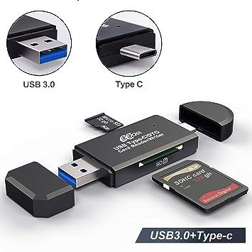 Card Reader USB3.1 USB-C OTG External Portable Type C for MMS TF SD CF
