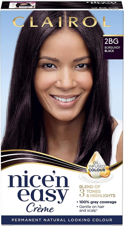 nne Clairol nice-n-easy color del pelo, 2BG Borgoña Negro