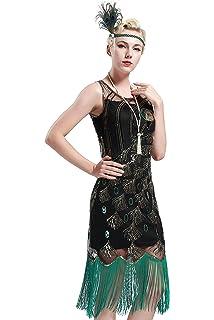 1d803ac90769 Babeyond Vestito Abito Anni 20 Donna Vestito Gatsby Donne 1920s Abiti  Flapper Dress Vestito da Sera