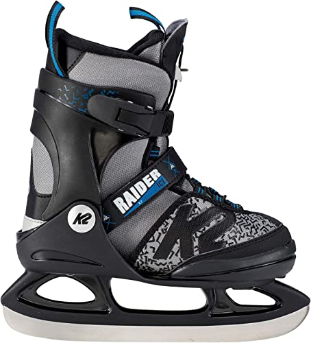 K2 Skate Boy s Raider Ice Skate, Gray Black