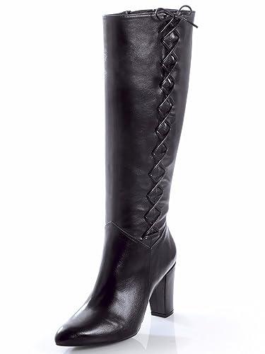 low priced 20666 7a760 Alba Moda Damen Stiefel mit dekorativer Schnürung: Amazon.de ...