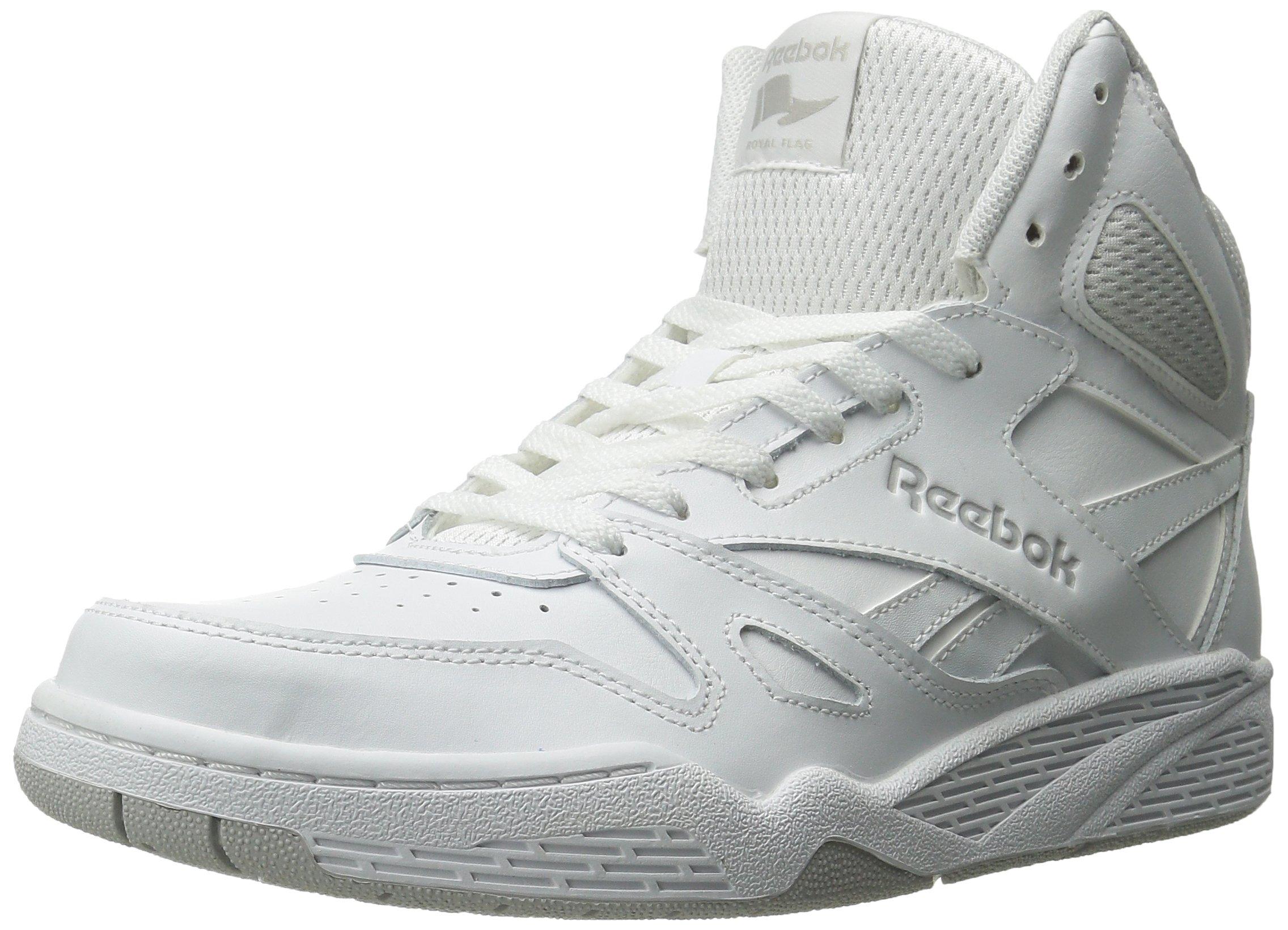 Reebok Men's Royal Bb4500 Hi Fashion Sneaker, White/Steel, 13 M US