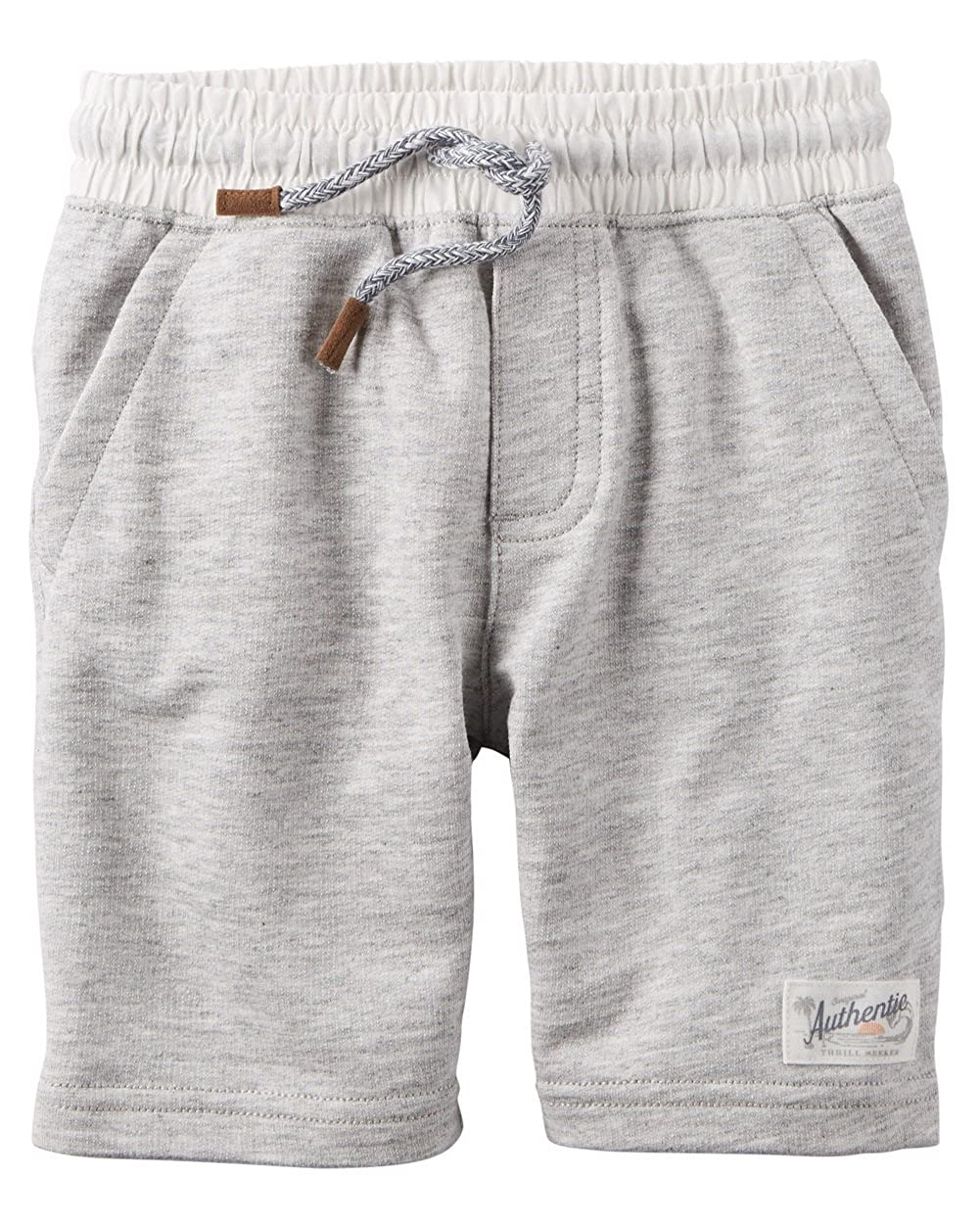 Carters Little Boys Pull-On French Terry Shorts 2-Toddler Gray