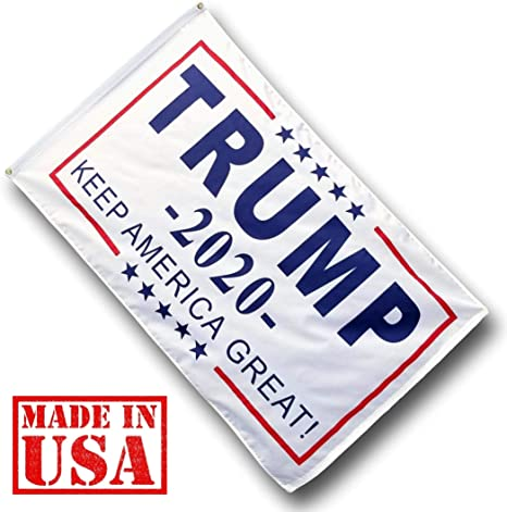 3x5 Trump 2020 No More Bullsh*t White Woven Poly Nylon Double Sided 3/'x5/' Flag