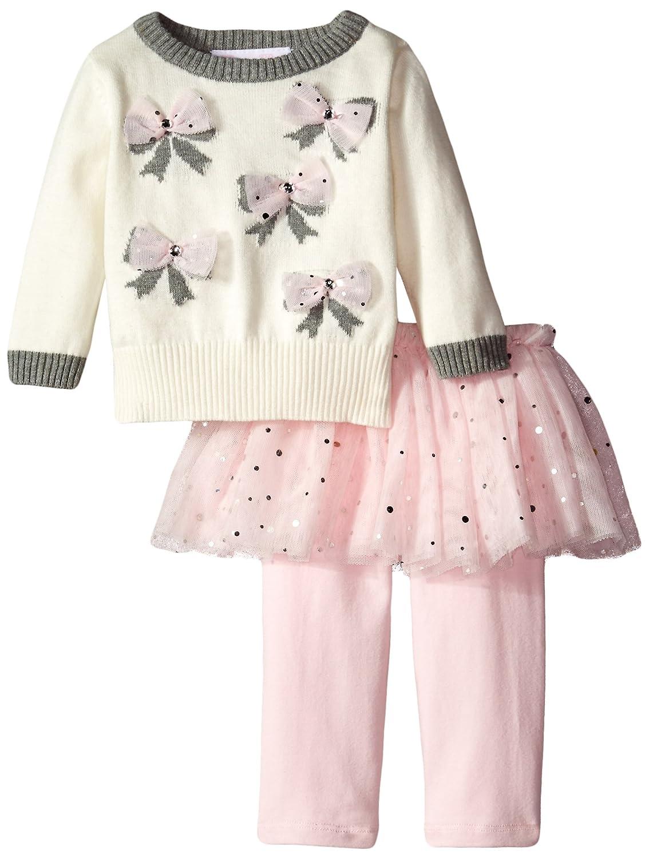 人気ブランドの ボニーベビーベビー女の子Bow Sweater Intarsia Sweater toメッシュスカートSkeggingセット 3S アイボリー 3S B014SYA31Y B014SYA31Y, Masters collection:01cc4804 --- arianechie.dominiotemporario.com