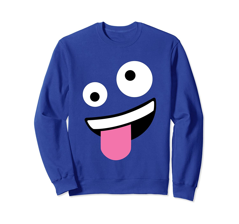 Wacky Emoji Face Halloween Costume Sweatshirt-mt