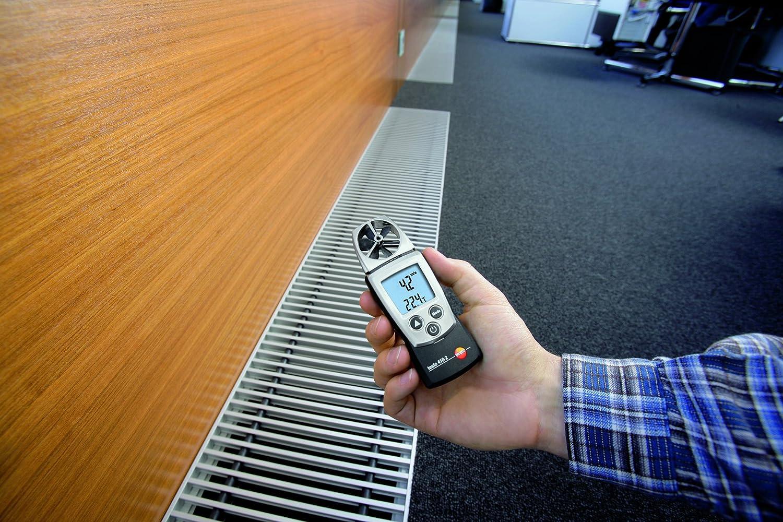Testo 0560 4102 410-2 An/émom/ètre /à h/élice en format de poche avec mesure dhumidit/é int/égr/ée et thermom/ètre CTN pour la mesure de la temp/érature de lair livr/é avec capuchon de protecti